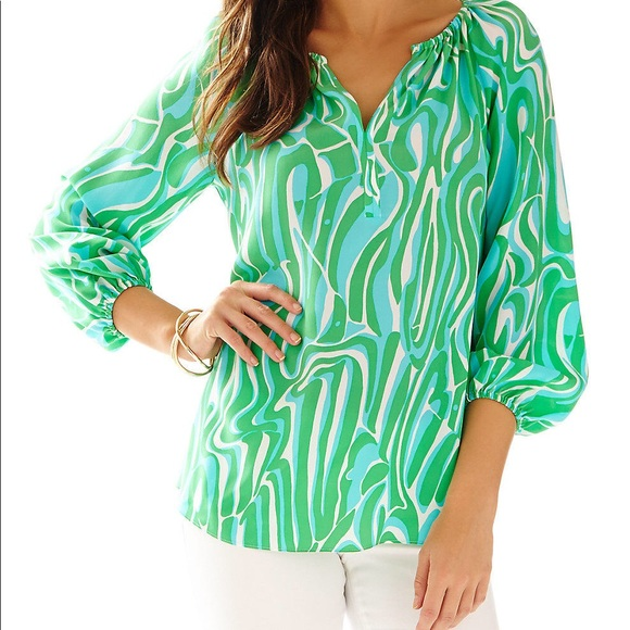 Lilly Pulitzer Tops - Lilly Pulitzer 100% Silk Blouse